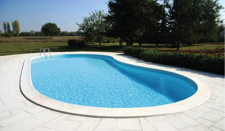 Prefabricated pool pool stop for Premade pools